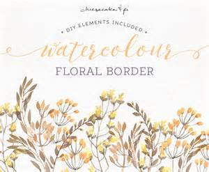 watercolor floral border png floral clipart wedding