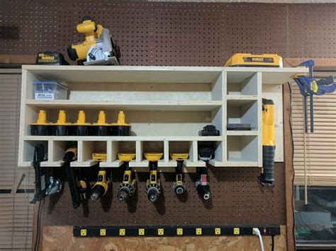 cordless drill charging  storage rack youtube