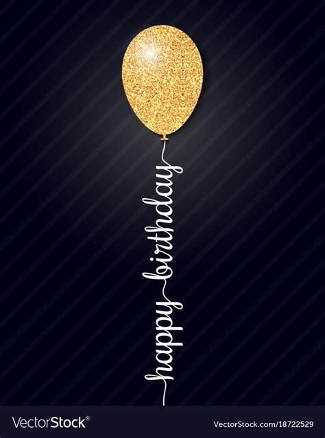happy birthday card  black background royalty  vector