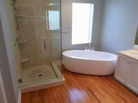 flooring red oak flooring with contemporary table bathroom soaker tub red oak floor