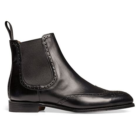 cheaney black chelsea boots made in