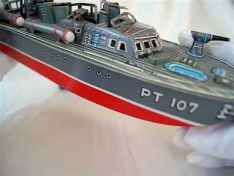 vintage pt boat 50s vintage marx linemar tin toy uss torpedo boat pt 107