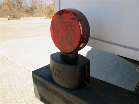 wireless magnetic trailer lights blazer magnetic tow lights red leds 4 way flat
