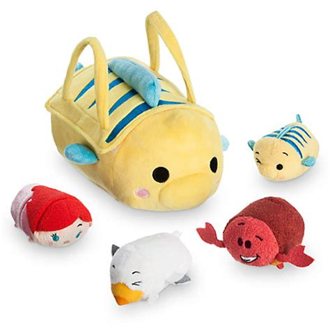 Tsum Tsum Satin Dress flounder tsum tsum carry the mermaid