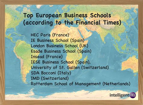 Europe Mba Rankings Financial Times by Business School Rankings From The Financial Times