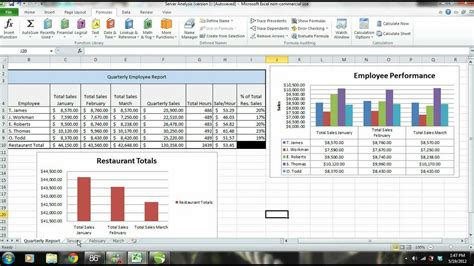ms excel 2010 tutorial employee sales performance report