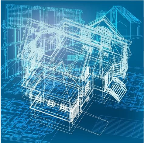 blueprint design urban blueprint vector architectural background part