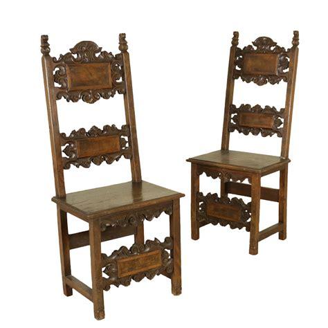 sedie antiquariato coppia di sedie a cartelle sedie poltrone divani