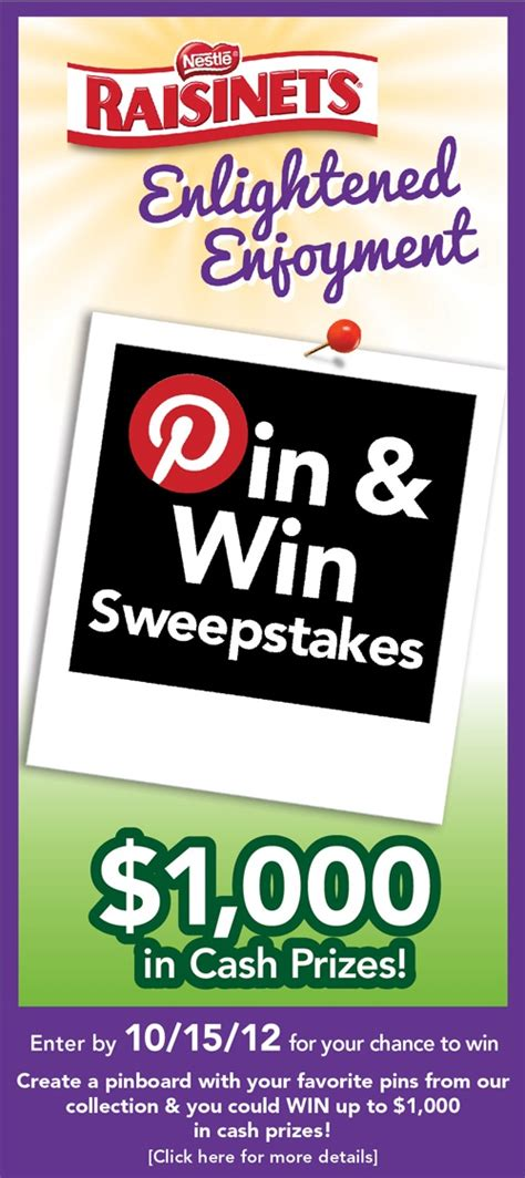 Sweepstakes That Are Easy To Win - pin by nestle raisinets on raisinets enlightened enjoyment sweepstake