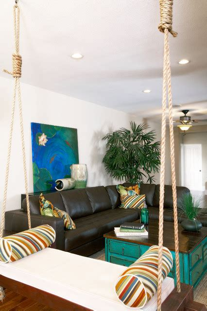 swing in room visbeen architects houzz feature hanging furniture for