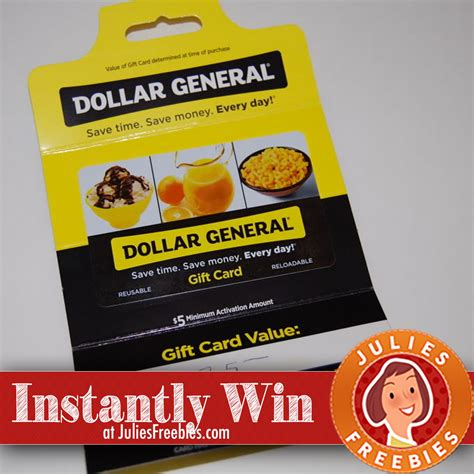 Dollar General Gift Card - dew general instant win game julie s freebies