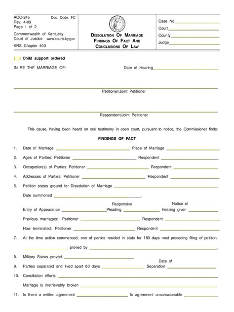 Dissolution Of Marriage Records Dissolution Of Marriage Form 20 Free Templates In Pdf