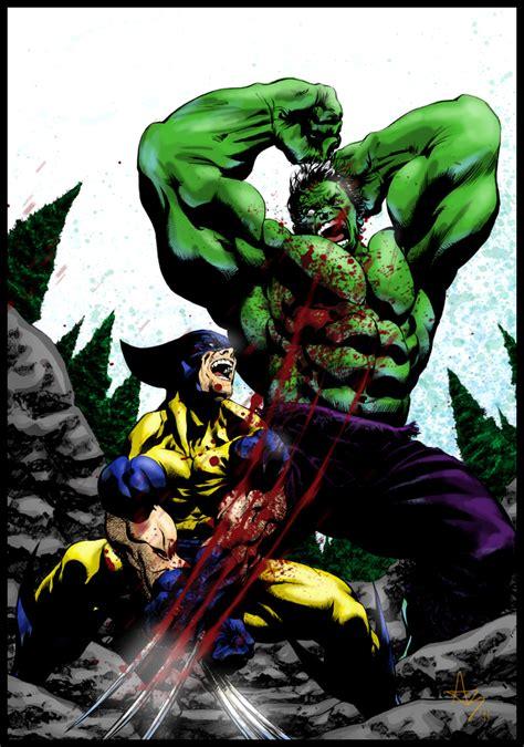 imagenes de hulk vs wolverine en real hulk vs wolverine colors by thenewestredranger on deviantart