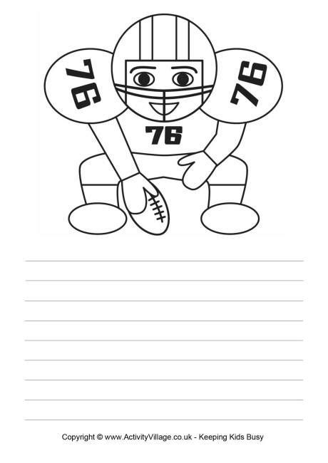 football writing paper american football story paper