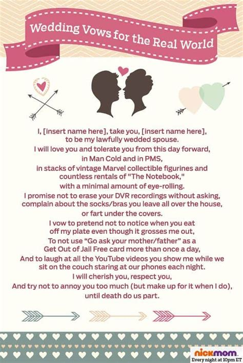 7 Ideas For Your Marriage by 7 Realistic Wedding Vows For The Modern And Groom