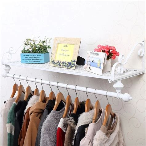 bedroom furniture for hanging clothes heavy duty metal clothes rail wall mounted garment hanging