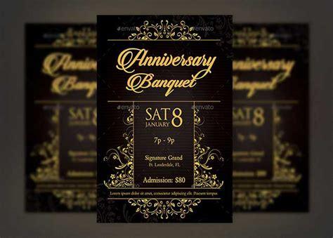 Golden Anniversary Banquet Flyer Template Inspiks Market Banquet Flyer Template