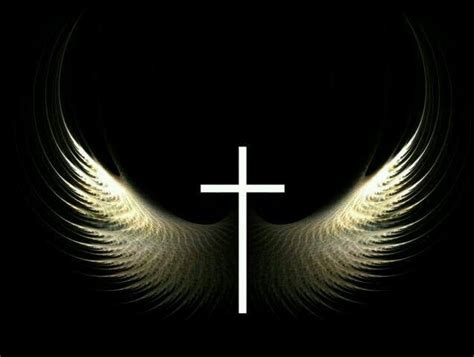 cross angel wings angels and wings pinterest