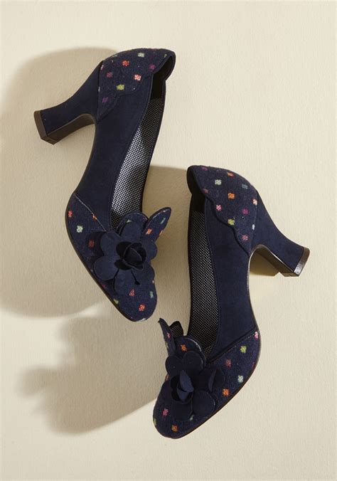 Shoo The Shop ruby shoo for the motif part heel in dots modcloth