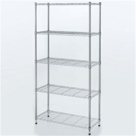 hdx wire shelving hdx 5 tier 36 in x 72 in x 14 in wire home use shelving unit eh wshdi 005 the home depot