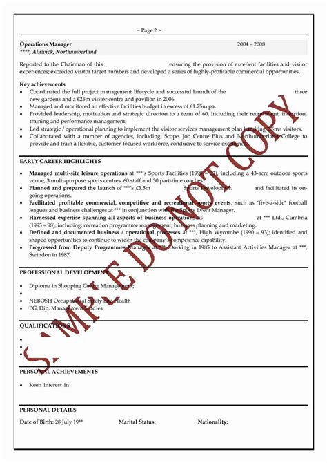 doc example resume personal profile sample example cover letter