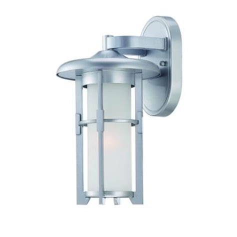 Discontinued Light Fixtures Acclaim Lighting Luma Collection Wall Mount 1 Light Outdoor Brushed Silver Light Fixture