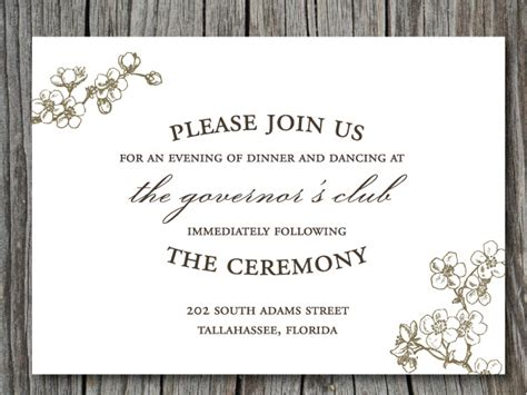 wedding invitation reception card exles wedding invitation wording search imgrc r