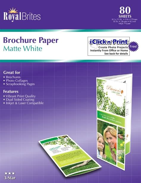 How To Make A Brochure On Paper - inkjet printers glossy brochure paper for inkjet printers