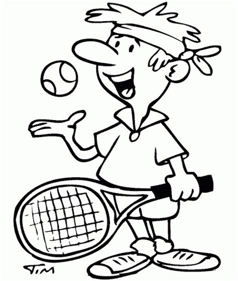 Tennis Guy Coloring Page Coloring Com Tennis Coloring Pages
