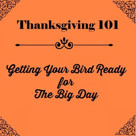 Is Ready For Its Big Day The Oscars by Thanksgiving 101 Getting Your Bird Ready For The Big Day