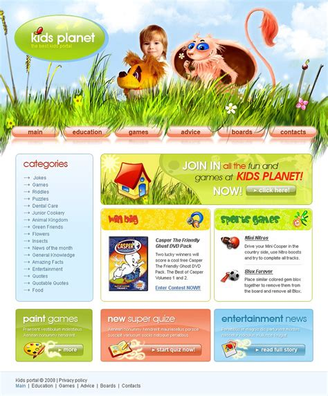 website templates for children s books kids center website template web design templates