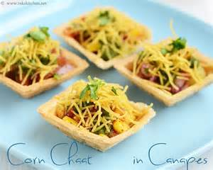 corn chat in canapes starter dishes pinterest