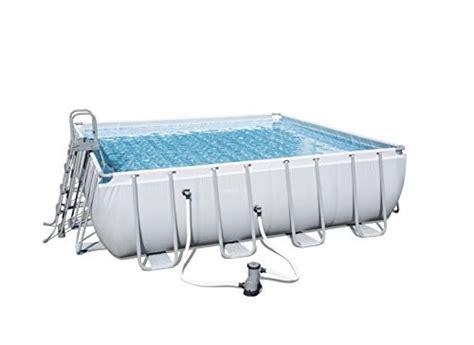 Kolam Ground Steel Pro Frame Pool Bestway 56245 White Kualitas Terbaik bestway frame pool power steel square set grey 488 x 488