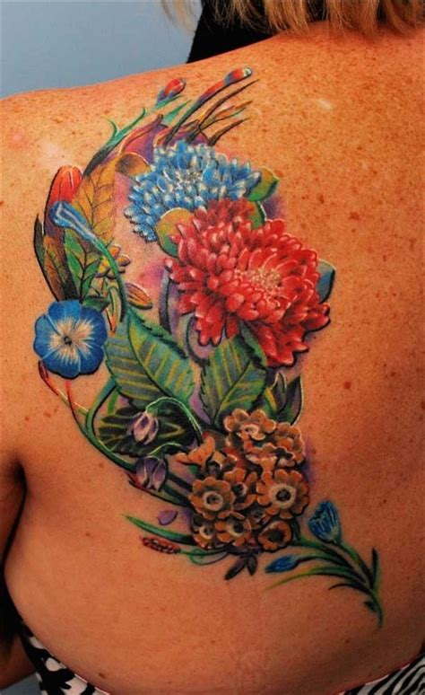 assorted flowers with brighter colors tattoomodels