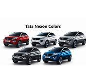 Tata Nexon Colors Blue Grey Silver Red White  GaadiKey