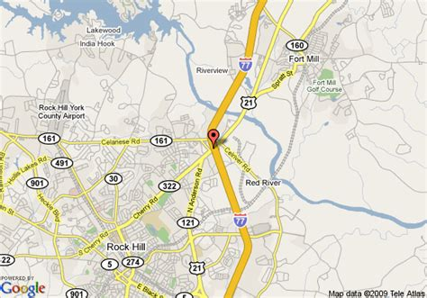 rock hill carolina map map of quality inn and suites rock hill