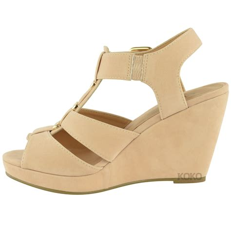 low gladiator sandals womens summer wedges low mid heel comfort gladiator