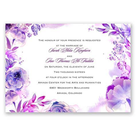 vintage purple damask custom wedding invitation cards ewi047 as low