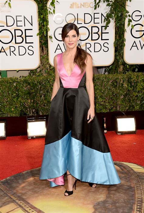 sandra bullock golden globes 2014 sandra bullock 2014 golden globe awards red carpet