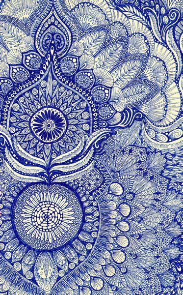 hindu pattern art blue mandala tumblr