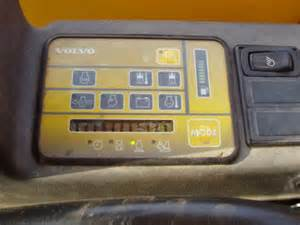 Check Cab Controller At Next Stop Volvo Panel On Ec 45 Volvo