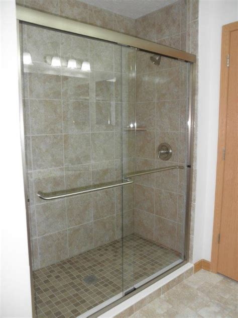 bypass glass shower doors frameless sliding shower doors precision glass shower