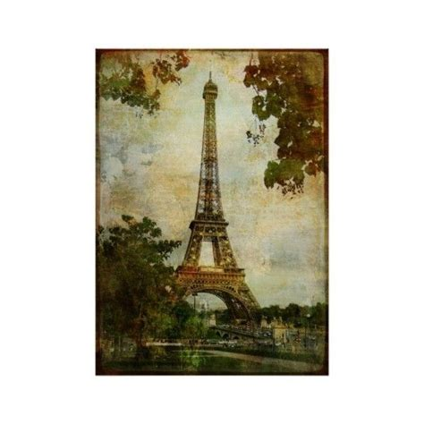 eiffel tower home decor accessories vintage eiffel tower poster 19 liked on polyvore