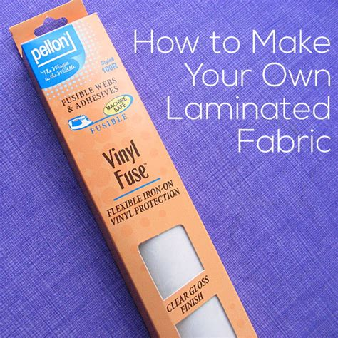 How To Sew Vinyl Upholstery by Make Your Own Laminated Fabric Shiny Happy World