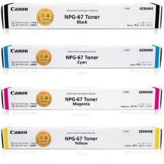 Conon Npg 67 Cyan canon npg 67 multi color toner black cyan yellow magenta buy canon npg 67 multi color