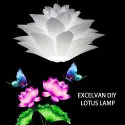 l shade chandelier diy excelvan diy lotus chandelier suspension pendant modern iq
