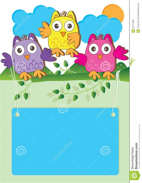 happy owl introduction eps stock vector image of