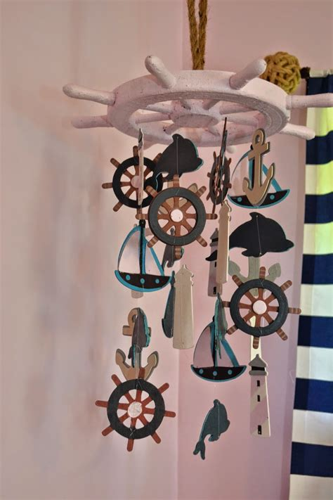 Diy Nautical Nursery Decor Manic Nautical Nursery Diy Baby Mobile