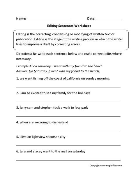 Printable Paragraphs To Edit