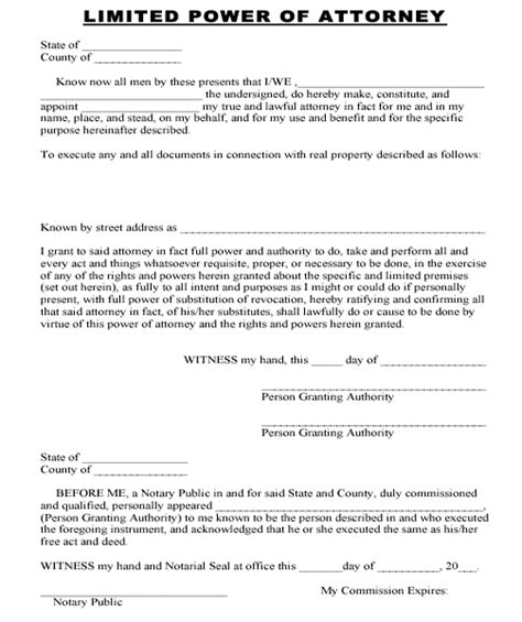 limited power of attorney template index of membership multimedia contracts and documents